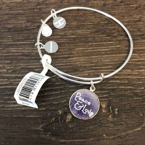 "NWT Alex and ani ""peace and love"" bracelet"